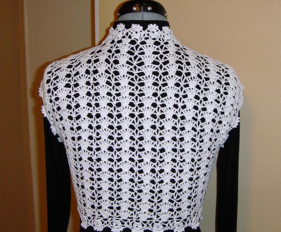 Asombroso Patrón De Crochet Libre Para El Bolero Galería - Manta de ...